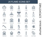 flame icons. trendy 25 flame... | Shutterstock .eps vector #1292457682