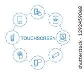 touchscreen icons. trendy 8... | Shutterstock .eps vector #1292459068