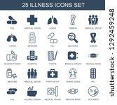 illness icons. trendy 25... | Shutterstock .eps vector #1292459248