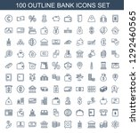 100 bank icons. trendy bank... | Shutterstock .eps vector #1292460565