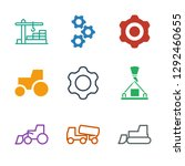 machinery icons. trendy 9... | Shutterstock .eps vector #1292460655