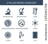 micro icons. trendy 9 micro... | Shutterstock .eps vector #1292461708