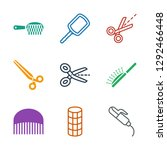 hairdresser icons. trendy 9... | Shutterstock .eps vector #1292466448
