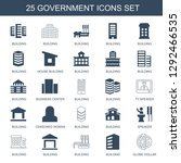 25 government icons. trendy...   Shutterstock .eps vector #1292466535