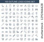 100 Logo Icons. Trendy Logo...