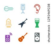 acoustic icons. trendy 9... | Shutterstock .eps vector #1292469238