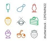 9 tasty icons. trendy tasty... | Shutterstock .eps vector #1292469622