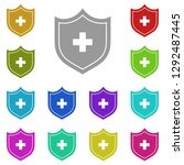 the medical shield with cross...