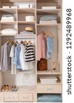 stylish clothes  shoes and home ... | Shutterstock . vector #1292489968