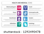 set of 8 white health and... | Shutterstock .eps vector #1292490478