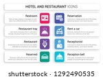 set of 8 white hotel and...   Shutterstock .eps vector #1292490535