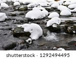 winter stream with stones and...   Shutterstock . vector #1292494495
