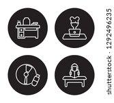 4 linear vector icon set  ... | Shutterstock .eps vector #1292496235