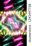 neon colored lights background. ... | Shutterstock . vector #1292497738
