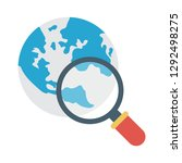 browsing   search   earth   | Shutterstock .eps vector #1292498275