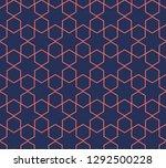 hexagon structure geometric...   Shutterstock .eps vector #1292500228