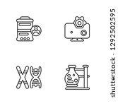 linear hazardous  chromosome ... | Shutterstock .eps vector #1292502595