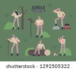 a set of people to explore the... | Shutterstock .eps vector #1292505322