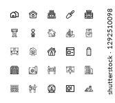 editable 25 estate icons for...   Shutterstock .eps vector #1292510098