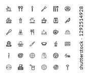 editable 36 cafe icons for web... | Shutterstock .eps vector #1292514928