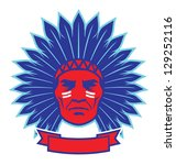 indian chief mascot   Shutterstock .eps vector #129252116