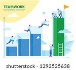 teamwork success. flat design...   Shutterstock .eps vector #1292525638