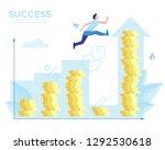 digital money market. flat...   Shutterstock .eps vector #1292530618