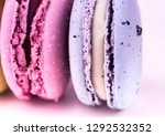 colorful french macarons or... | Shutterstock . vector #1292532352