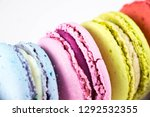 colorful french macarons or... | Shutterstock . vector #1292532355