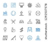 recreation icons set.... | Shutterstock .eps vector #1292537578