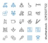 toy icons set. collection of... | Shutterstock .eps vector #1292537722
