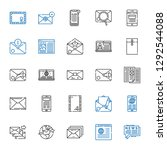 newsletter icons set.... | Shutterstock .eps vector #1292544088
