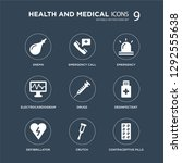 9 icons set such as enema ... | Shutterstock .eps vector #1292555638