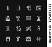 editable 16 architectural icons ... | Shutterstock .eps vector #1292556358
