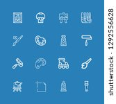 editable 16 painter icons for... | Shutterstock .eps vector #1292556628