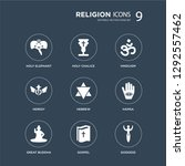 9 icons set such as holy...   Shutterstock .eps vector #1292557462