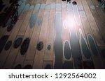 Rain Puddles On Wooden Floor...