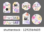spring holiday tags set with...   Shutterstock .eps vector #1292564605