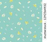 daisies vector seamless pattern | Shutterstock .eps vector #1292564932