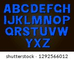 set of colorful letters. color... | Shutterstock .eps vector #1292566012