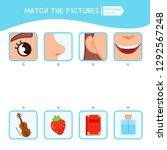 matching children educational... | Shutterstock .eps vector #1292567248