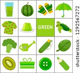 learn the primary colors. green.... | Shutterstock .eps vector #1292567272