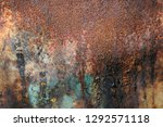 abstract rusted heavily rusty... | Shutterstock . vector #1292571118