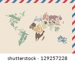 Vintage Envelope With World Map ...