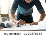 close up man working of... | Shutterstock . vector #1292575858