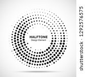 halftone circle dotted frame... | Shutterstock .eps vector #1292576575