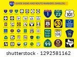 set of united state street sign.... | Shutterstock .eps vector #1292581162