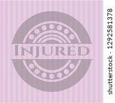 injured pink emblem | Shutterstock .eps vector #1292581378