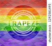 trapeze lgbt colors emblem  | Shutterstock .eps vector #1292581495