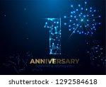 anniversary 1. geometric... | Shutterstock .eps vector #1292584618